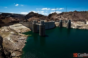 Hoover Dam with Lake Mead